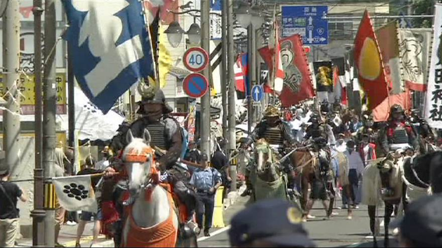 Samurai parade in Japan