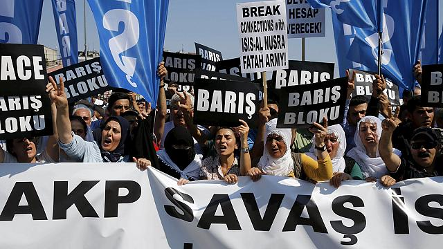 Turkish Kurds protest against airstrikes and mass arrests