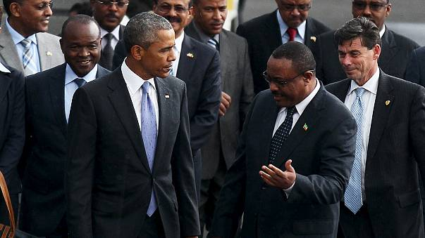 باراک اوباما با استقبال مردم و دولت وارد اتیوپی شد
