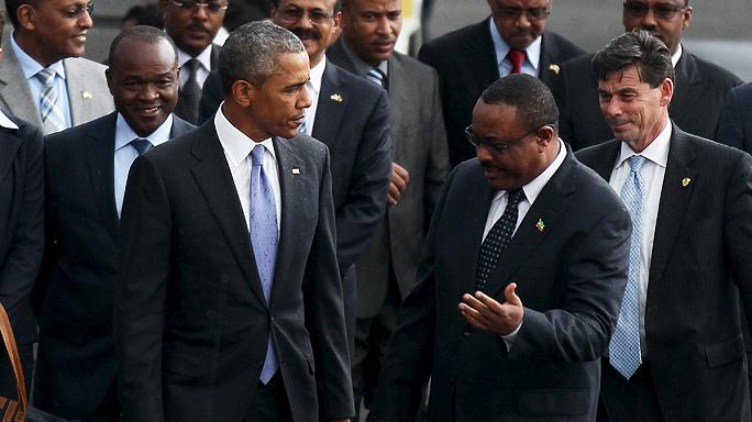 Obama makes first ever visit by sitting US president to Ethiopia
