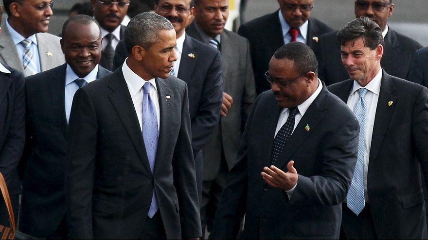Barack Obama llega a Etiopía