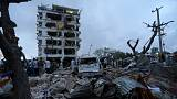 Felrobbantották Szomália legbiztonságosabb épületét