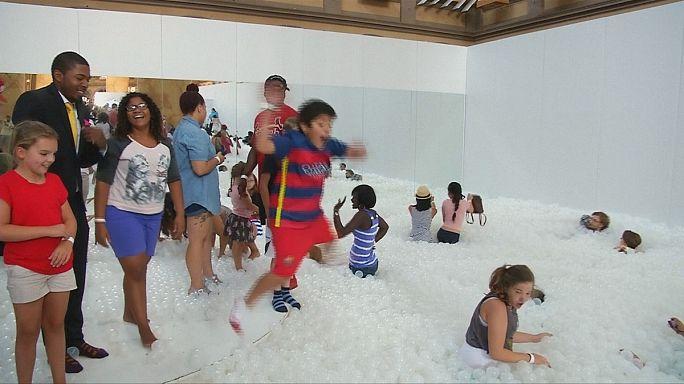 بحر من الكرات البلاستيكية في المتحف الوطني في واشنطن