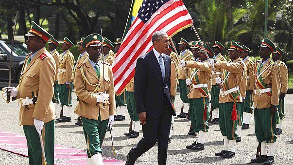 الرئيس الأمريكي يلتقي برئيس الحكومة الأثيوبية في أديس أبابا