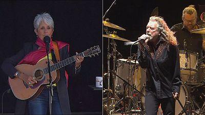 Robert Plant, Patti Smith und Johnny Hallyday rocken 270.000 beim Paléo