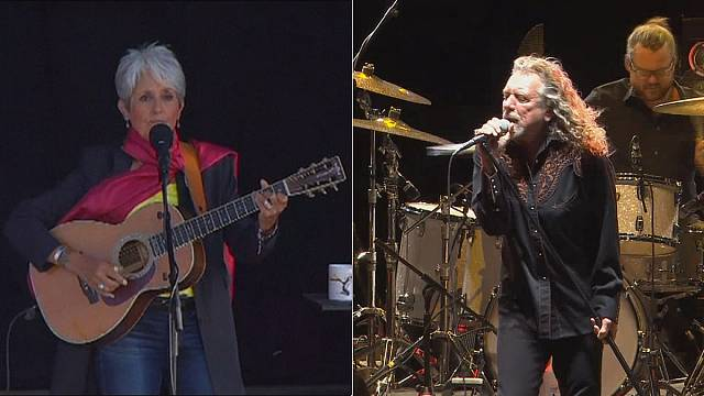 Patti Smith, Joan Baez, Robert Plant és Johnny Hallyday a Paléón