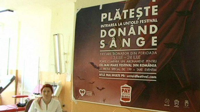 Blut gegen Ticket: Transsilvanisches Musikfestival will Spendenbereitschaft erhöhen