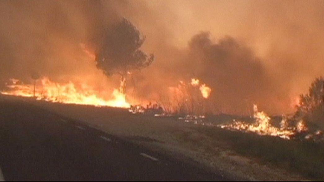 Dos incendios en Francia y otro en España arrasan más de 1.500 hectáreas