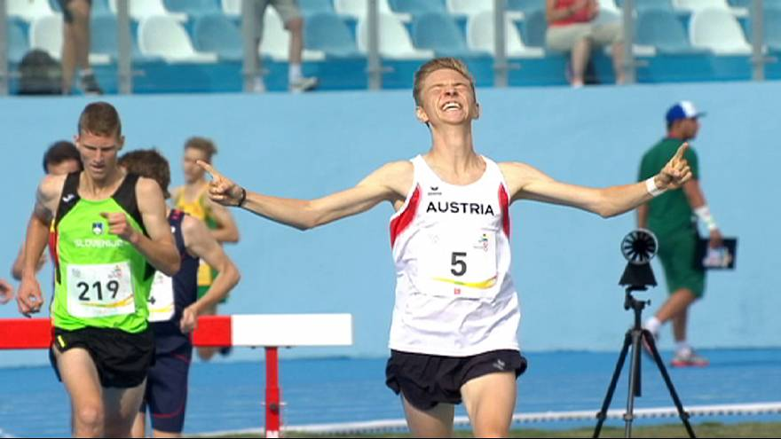 Festival Olímpico da Juventude: Medalhas no atletismo e natação