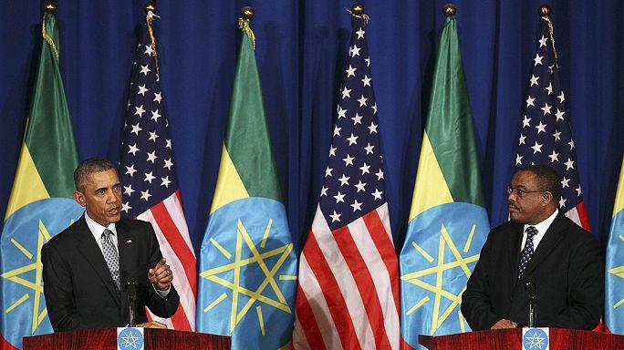 Terrorismo y Sudán del Sur centran la primera jornada de Obama en Etiopía