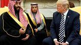 Image: Saudi Arabia's Crown Prince Mohammed bin Salman delivers remarks as