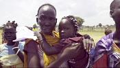 South Sudan families are reunited after being torn part by civil war