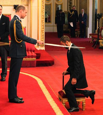Beatle, Sir Richard Starkey, also known as Ringo Starr, is made a Knight Bachelor of the British Empire by the Duke of Cambridge at Buckingham Palace during an Investiture ceremony on March 20, 2018 in London.