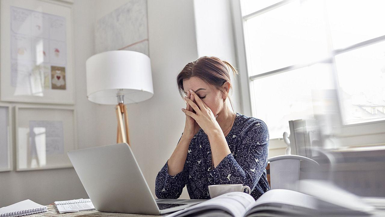 Image: Stressed businesswoman