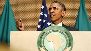 Historischer Besuch: Barack Obama hält als erster US-Präsident eine Rede am Sitz der Afrikanischen Union