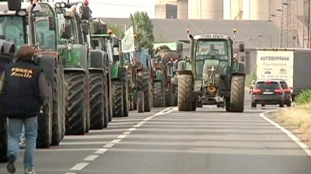 Contadini francesi in protesta contro i prezzi troppo bassi di carne e latte: bloccate autostrade