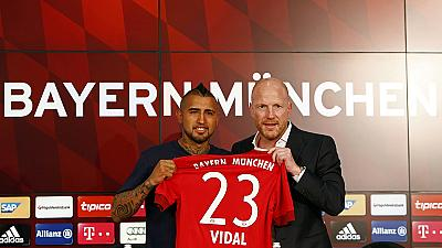 German champs Bayern complete Vidal signing