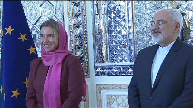 EU foreign policy chief in Iran for discussions on implementing nuclear deal