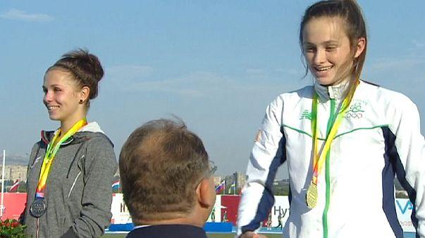 Avrupa Gençlik Olimpiyatları Festivali'nin ikinci gününde madalyalar sahiplerini buldu