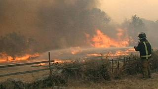 Forest fires strike Spain