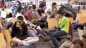 German registration centre for migrants