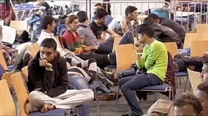 Centro de registo para migrantes na Alemanha