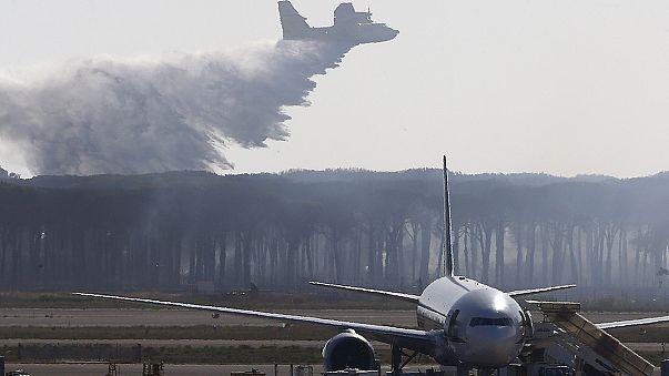 Un incendie perturbe l'activité de l'aéroport de Rome