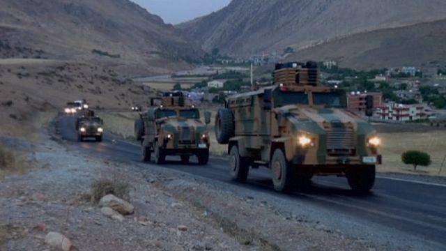 РПК атаковала колонну турецкой армии