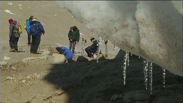 Retreating ice reveals climate secrets on Qori Kalis glacier