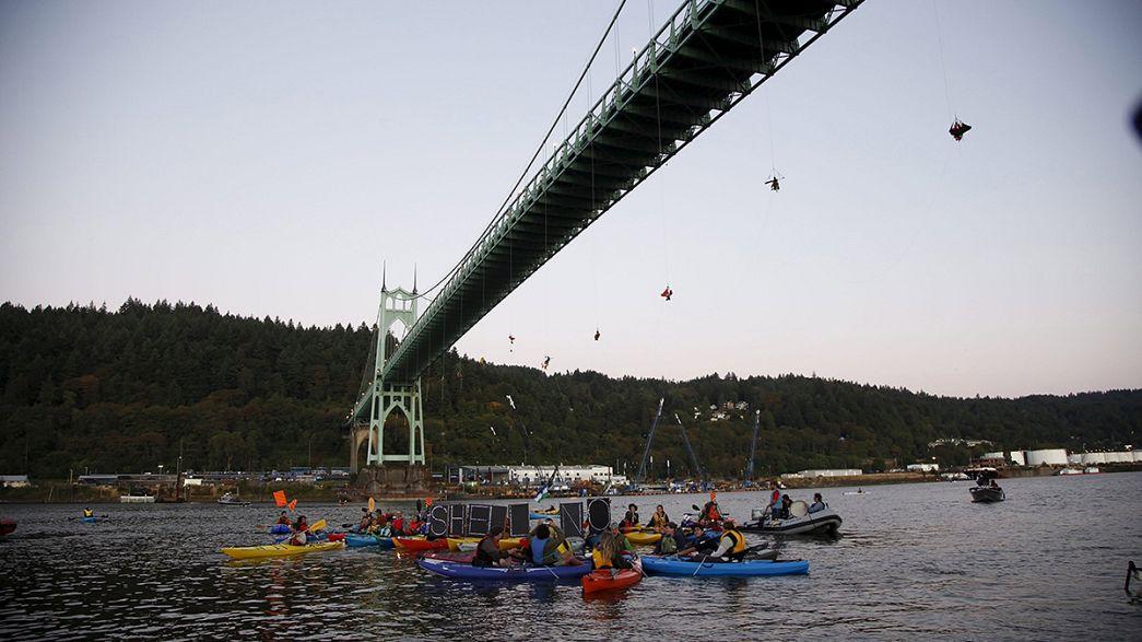 Ölbohrungen in der Arktis: Greenpeace protestiert in Portland