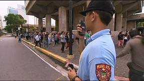 Massive earthquake drill in Philippines