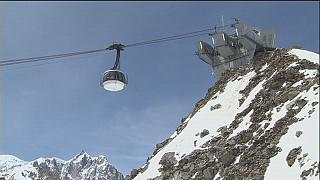 """Mont-Blanc'da zirveye ulaşmanın en keyifli yolu: """"Skyway"""""""
