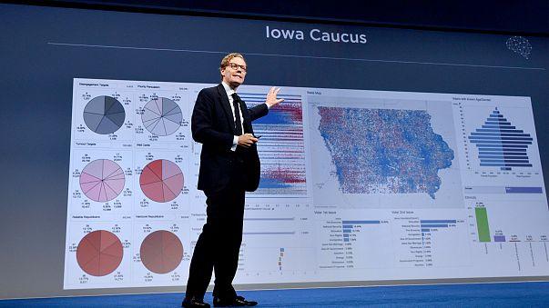 Image: CEO of Cambridge Analytica Alexander Nix speaks at the 2016 Concordi