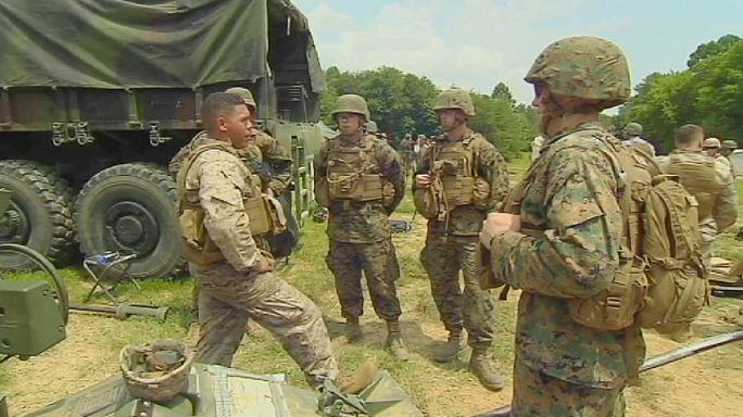 Les Marines américains sous pression