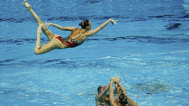 Rusia sigue demostrando su hegemonía en natación sincronizada