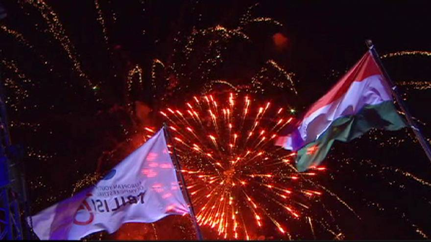 Espectacular cierre del Festival Olímpico de la Juventud Europea