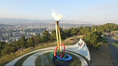 Abschlussfeier der 13. Europäischen Olympischen Jugendspiele in Tiflis