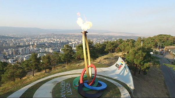 إختتام المهرجان الأولمبي الأوروبي للشباب بتبليسي  روسيا تسيطر بمجموع37 ميدالية