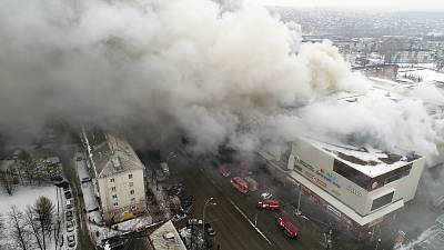 At Least 40 Dead After Fire Tears Through Siberian Mall