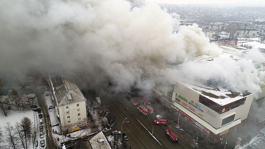 Image: Siberian mall fire