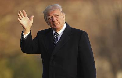 President Donald Trump at the White House on Sunday after returning from his Mar-a-Lago estate in Palm Beach, Florida.