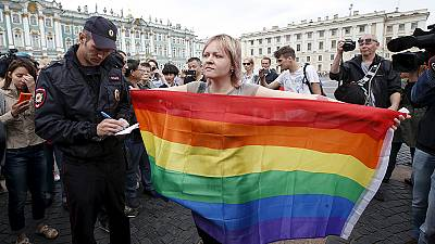 LGBT activists arrested in Russia amid paratrooper celebrations