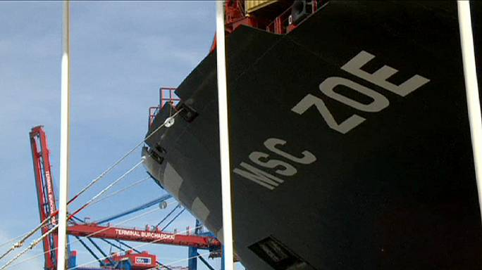 В Гамбурге присвоено имя крупнейшему в мире контейнеровозу