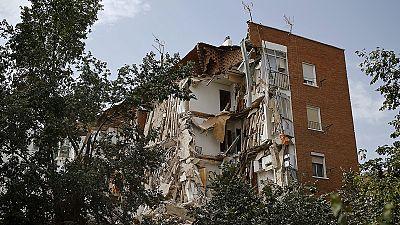 Madrid apartment building collapses