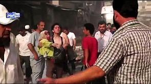 Siria: caccia si schianta su un mercato, oltre 30 morti