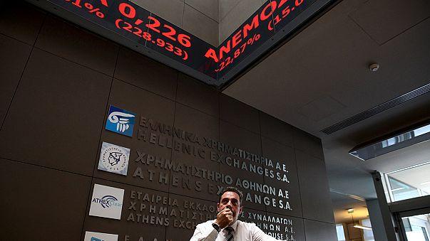 سوق الأعمال اليونانية في غرفة الإنعاش