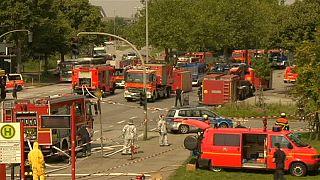 Brand in Hochbunker in Hamburg