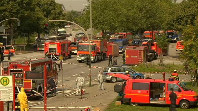 ألمانيا :إصابة العشرات في حريق وانفجار داخل مبنى محصن