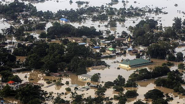 Appeal for international aid as floods kill hundreds in Myanmar and India