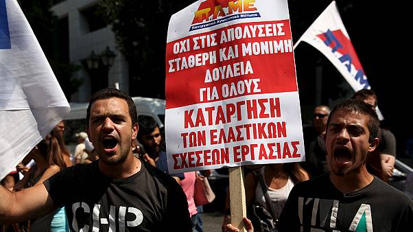 Ελλάδα: Πορεία του ΠΑΜΕ και συνάντηση Τσακαλώτου, Σταθάκη με τους θεσμούς